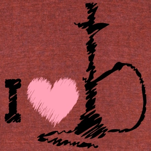 I LOVE SHISHA - Unisex Tri-Blend T-Shirt by American Apparel