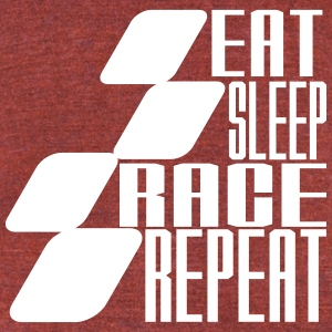 Eat Sleep Race Repeat MOTOGP - Unisex Tri-Blend T-Shirt by American Apparel