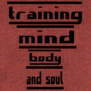 training mind body and soul - Unisex Tri-Blend T-Shirt by American Apparel