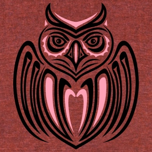 Large owl with wings in Haida Style. - Unisex Tri-Blend T-Shirt by American Apparel