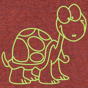 Funny Turtle - Unisex Tri-Blend T-Shirt by American Apparel