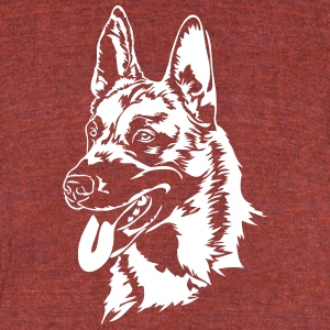 Belgian Malinois dog - Unisex Tri-Blend T-Shirt by American Apparel