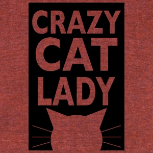 crazy cat lady - Unisex Tri-Blend T-Shirt by American Apparel