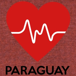 Heart Paraguay - Unisex Tri-Blend T-Shirt by American Apparel