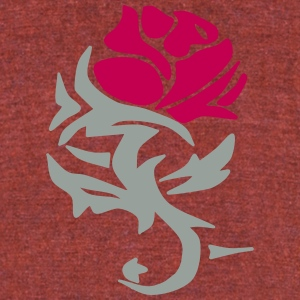 Rose Design - Unisex Tri-Blend T-Shirt by American Apparel