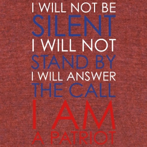 I AM A PATRIOT 2 - Unisex Tri-Blend T-Shirt by American Apparel