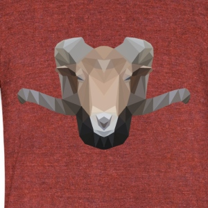 Low Poly Ram - Unisex Tri-Blend T-Shirt by American Apparel