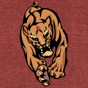 big_lion_from_front - Unisex Tri-Blend T-Shirt by American Apparel