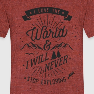 Traveler's T-shirt - Unisex Tri-Blend T-Shirt by American Apparel