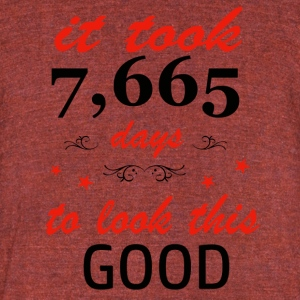 It took 21 years to get this awesome - Unisex Tri-Blend T-Shirt by American Apparel