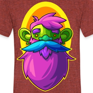 Bearded Gnome - Unisex Tri-Blend T-Shirt by American Apparel