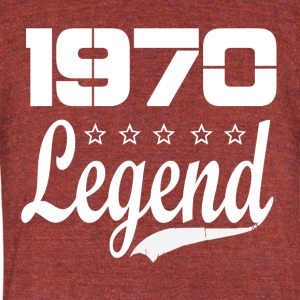 70 legend - Unisex Tri-Blend T-Shirt by American Apparel