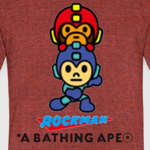 Bape x Rockman Limited Edtion - Unisex Tri-Blend T-Shirt by American Apparel
