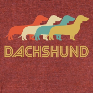 Dachshund Pop Art - Unisex Tri-Blend T-Shirt by American Apparel