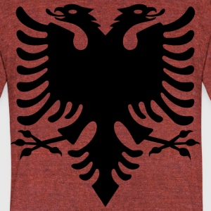 Albanian Eagle design - Unisex Tri-Blend T-Shirt by American Apparel