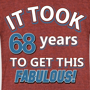 68th birthday design - Unisex Tri-Blend T-Shirt by American Apparel