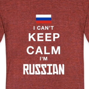 i cant keep calm Im RUSSIAN! - Unisex Tri-Blend T-Shirt by American Apparel
