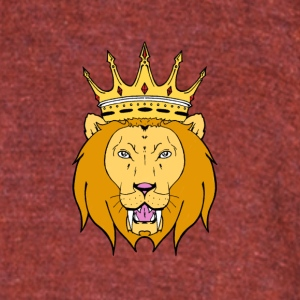 lion design - Unisex Tri-Blend T-Shirt by American Apparel