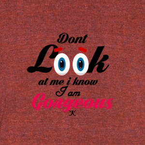 I Am Gorgeous - Unisex Tri-Blend T-Shirt by American Apparel