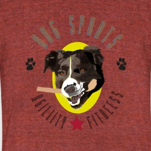 Dog Sports - Unisex Tri-Blend T-Shirt by American Apparel