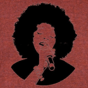 afro singer - Unisex Tri-Blend T-Shirt by American Apparel