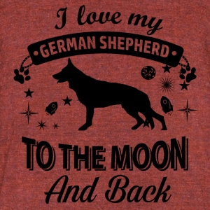 Love my German Shepherd - Unisex Tri-Blend T-Shirt by American Apparel