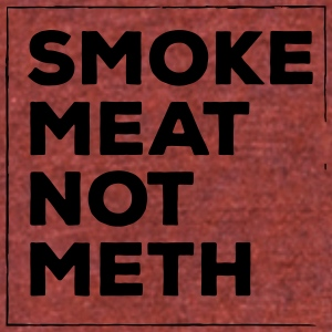 Smoke meat not meth - Unisex Tri-Blend T-Shirt by American Apparel