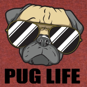 Pug life - Unisex Tri-Blend T-Shirt by American Apparel