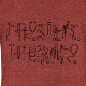 Physical Therapy - Unisex Tri-Blend T-Shirt by American Apparel