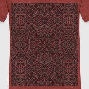 Art_Pattern - Unisex Tri-Blend T-Shirt by American Apparel