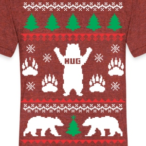 Bear Hug Festive - Unisex Tri-Blend T-Shirt by American Apparel