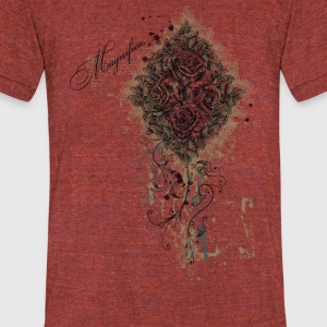 Flower-tshirt - Unisex Tri-Blend T-Shirt by American Apparel