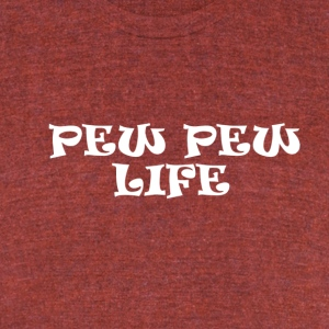 The Pew Pew Life - Unisex Tri-Blend T-Shirt by American Apparel