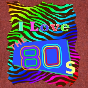 I love the 80s 001 - Unisex Tri-Blend T-Shirt by American Apparel