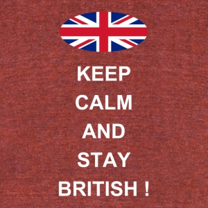 stay british - Unisex Tri-Blend T-Shirt by American Apparel