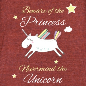 Beware of the Princess - Unisex Tri-Blend T-Shirt by American Apparel