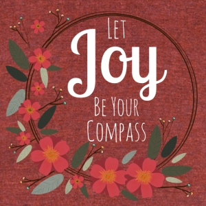 Let JOY be your compass - Unisex Tri-Blend T-Shirt by American Apparel
