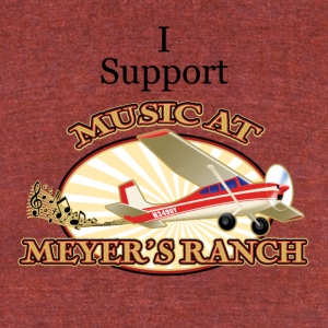 I Support - Music at Meyer's Ranch - Unisex Tri-Blend T-Shirt by American Apparel