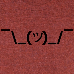 ¯\_(ツ)_/¯ - Unisex Tri-Blend T-Shirt by American Apparel