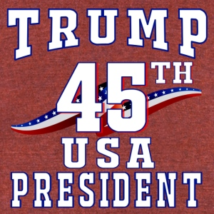 45th USA President - Unisex Tri-Blend T-Shirt by American Apparel