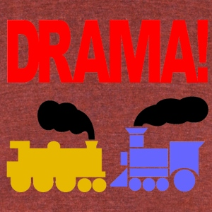 DRAMA - Unisex Tri-Blend T-Shirt by American Apparel