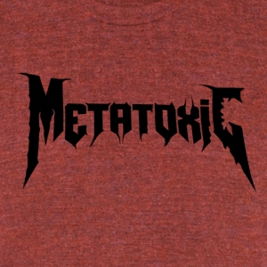 METATOXIC Text Logo (Black) - Unisex Tri-Blend T-Shirt by American Apparel