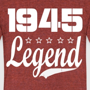 45 legend - Unisex Tri-Blend T-Shirt by American Apparel