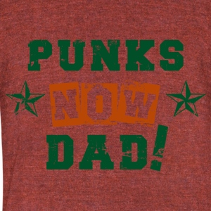 VATERBIER Father's Day Gift, Punks now Dad - Unisex Tri-Blend T-Shirt by American Apparel