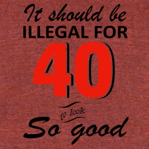 Funny 40th year old birthday designs - Unisex Tri-Blend T-Shirt by American Apparel