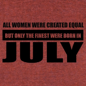 All women were created equal July designs - Unisex Tri-Blend T-Shirt by American Apparel