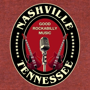 nashville good rockabilly - Unisex Tri-Blend T-Shirt by American Apparel