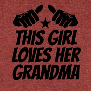 This Girl Loves Her Grandma - Unisex Tri-Blend T-Shirt by American Apparel