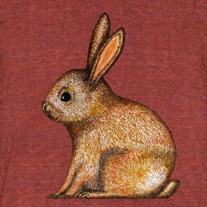 Easter Easterbunny rabbit Happy Easter Animal - Unisex Tri-Blend T-Shirt by American Apparel