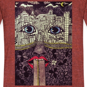 LuckyPen Art - Unisex Tri-Blend T-Shirt by American Apparel